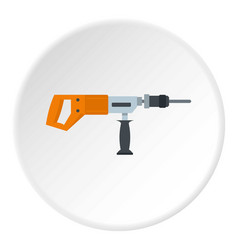 electric drill perforator icon circle vector image