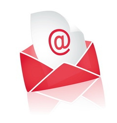 email on white background vector image