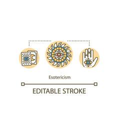 Esoterism concept icon vector
