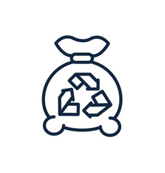 garbage bag recycle ecology environment icon vector image