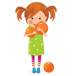 girl with ball vector image