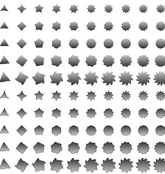 Grey deformed polygon shape collection vector