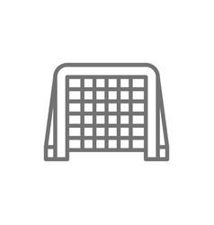 hockey gates line icon vector image