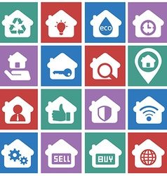 House and rental icon set for business vector