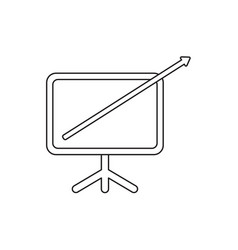 icon concept arrow moving up and out of vector image