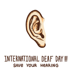 International ear day concept background hand vector