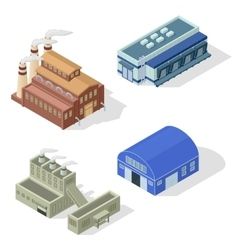 Isometric factory set vector image