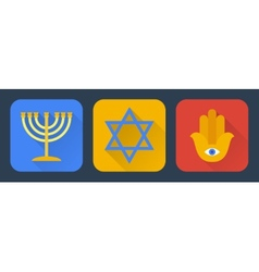 Judaism flat vector image