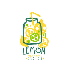 lemon original design logo natural product badge vector image