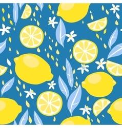 Lemons seamless pattern vector
