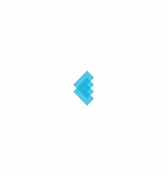 letter e symbol design vector image