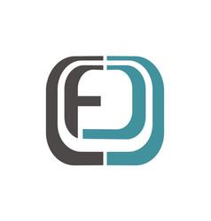 letter pf fd modern vector image