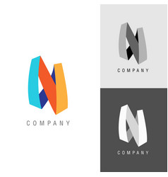 Logo design element letter symbol n vector