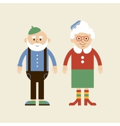 Lovely elderly couple vector