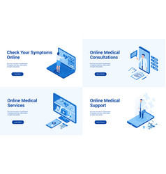 medical services template vector image