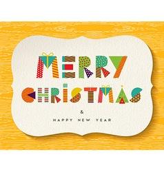 Merry Christmas Happy new Year fun color design vector