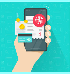 payment online bills via credit card and touch vector image