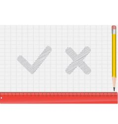 pencil ruler and draw a symbol vector image