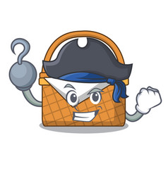 Pirate picnic basket character cartoon vector