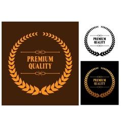 Premium Quality laurel wreath icons vector image