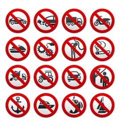 Prohibited symbols vector image