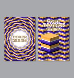 purple orange color scheme book cover design vector image