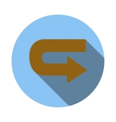 Return arrow icon flat style vector