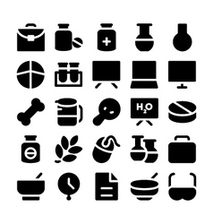 Science icons 9 vector