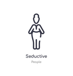 Seductive outline icon isolated line from people vector