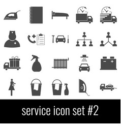 service icon set 2 gray icons on white vector image