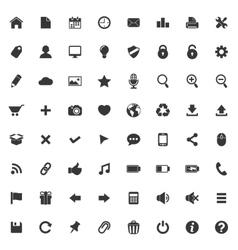 set icons for web and mobile application vector image