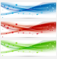 Set of swoosh speed wave abstract web headers vector image