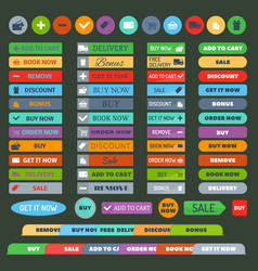 shop buttons set vector image