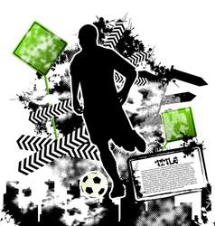 Soccer grunge vector