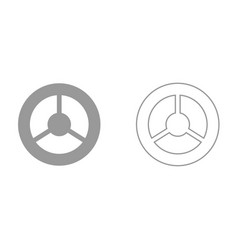 steering wheel it is black icon vector image