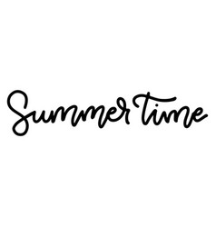 summer time - hand drawn linear inspirational vector image