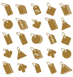 Tag icons isolated on white background set retail vector