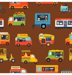 Trailer seamless pattern vector image