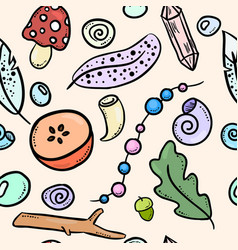 urban witch colorful doodles seamless pattern vector image