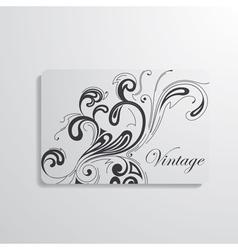 Visiting card vector