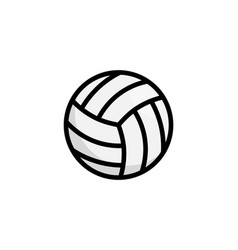 volley ball logo icon vollyeball simple vector image