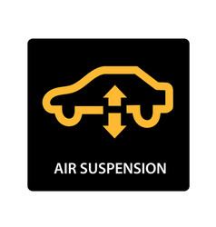 warning dashboard car icon air suspension vector image