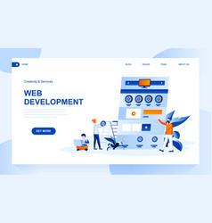 web development landing page template vector image