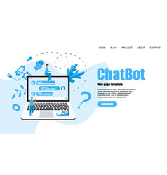 webpage template chatbot business concept vector image