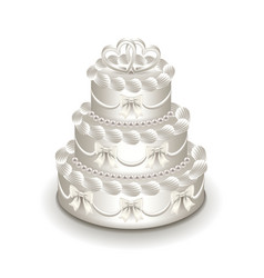 wedding cake isolated on white vector image