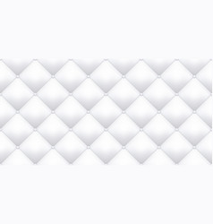 White leather upholstery texture pattern vector