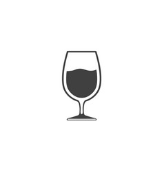 Wineglass with wine icon isolated on white vector