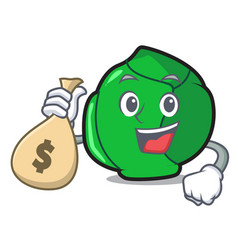 with money bag brussels character cartoon style vector image