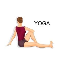 Woman doing yoga vector