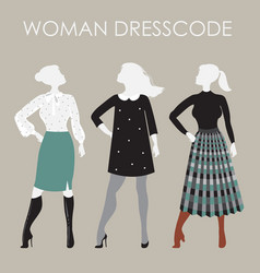 woman dresscode women in vector image